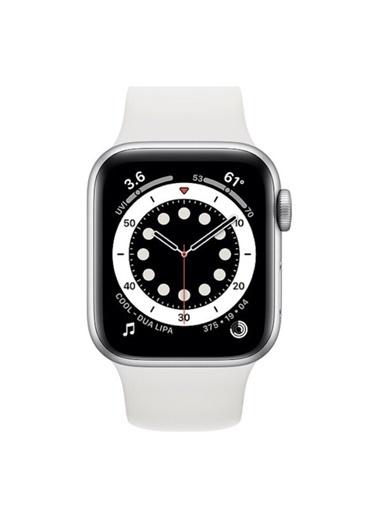 Apple AppleWatch Series 6 Gps 40 Mm Gümüş Rengi Alüminyum Kasa Ve Beyaz Spor Kordon MG283TU/A Gümüş